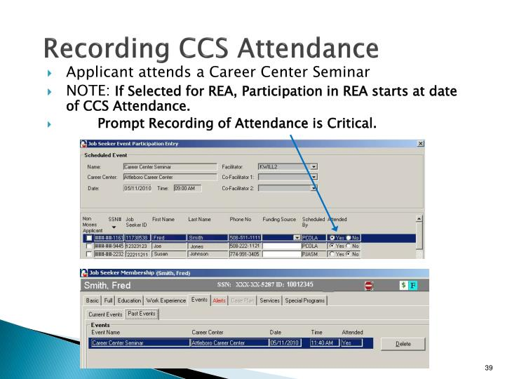 Recording CCS Attendance