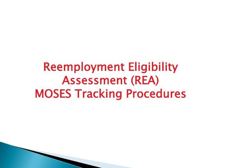 Reemployment Eligibility Assessment (REA)