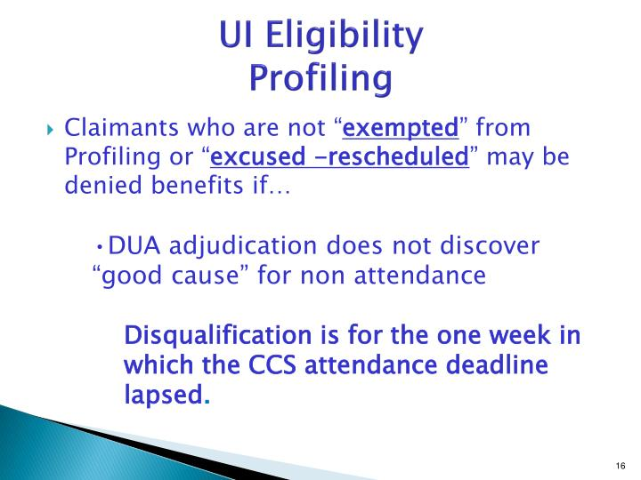 UI Eligibility
