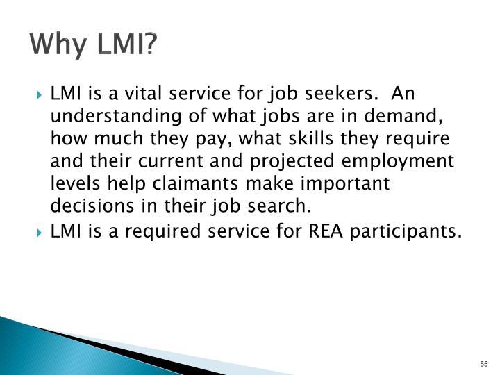 Why LMI?