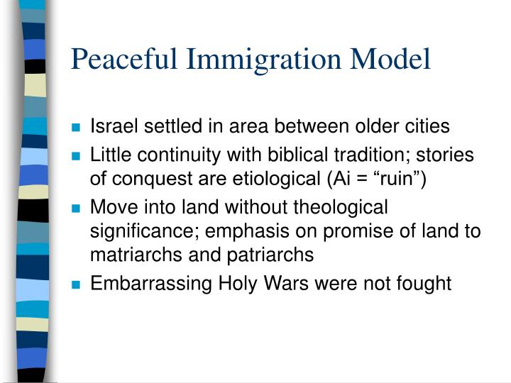 Peaceful Immigration Model
