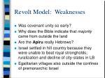 revolt model weaknesses