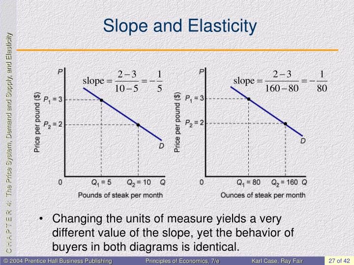 Slope and Elasticity