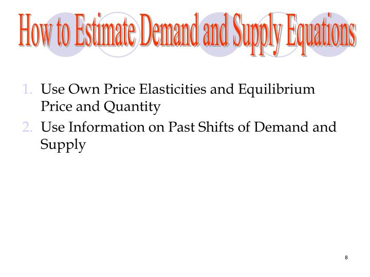 How to Estimate Demand and Supply Equations