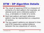 dtw dp algorithm details