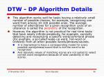 dtw dp algorithm details13