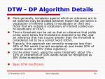 dtw dp algorithm details14