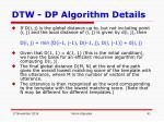 dtw dp algorithm details7