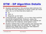 dtw dp algorithm details8