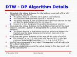 dtw dp algorithm details9
