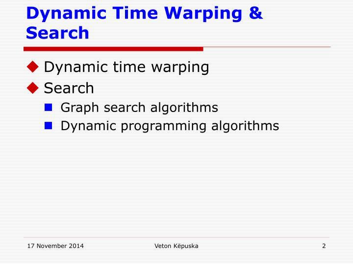 Dynamic Time Warping & Search