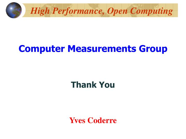 High Performance, Open Computing