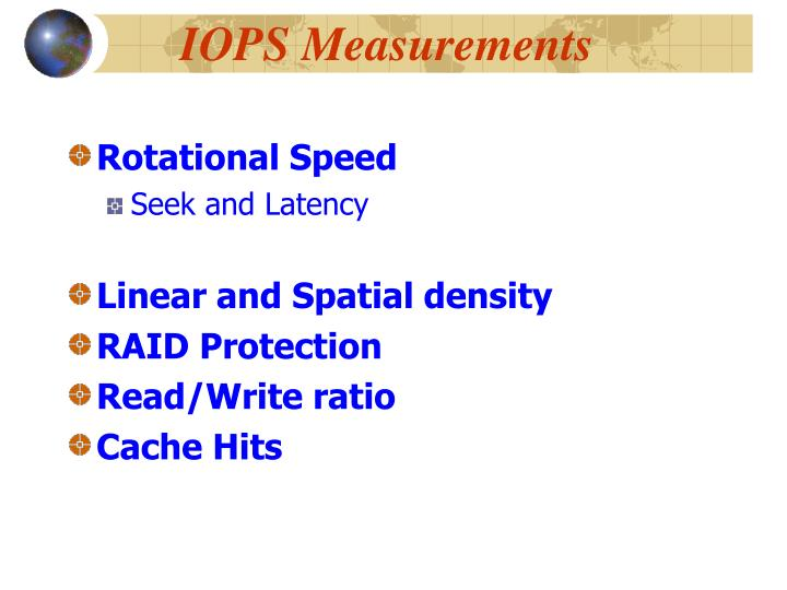IOPS Measurements