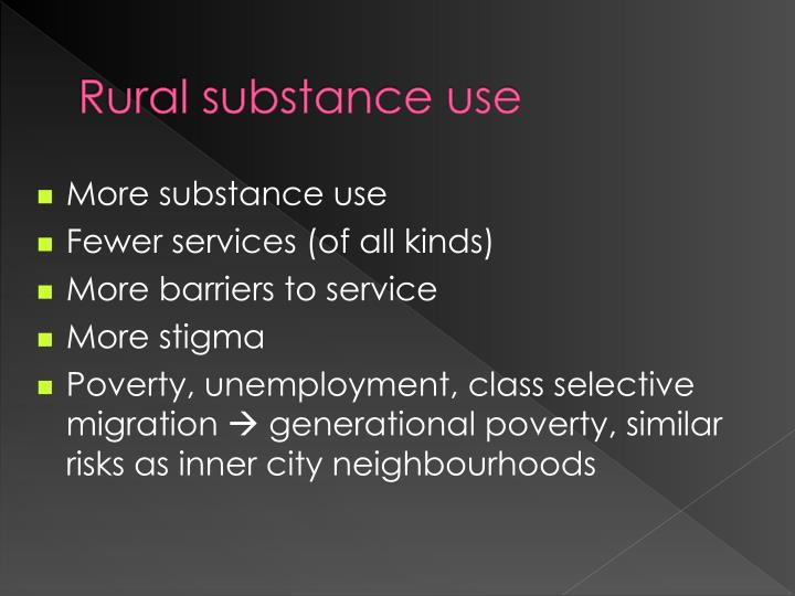 Rural substance use