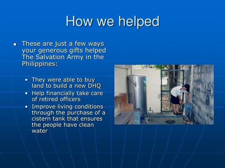 How we helped