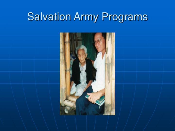 Salvation Army Programs
