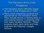 the salvation army in the philippines