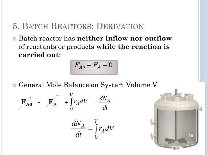 5. Batch Reactors: Derivation