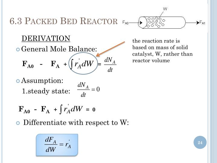 6.3 Packed Bed Reactor
