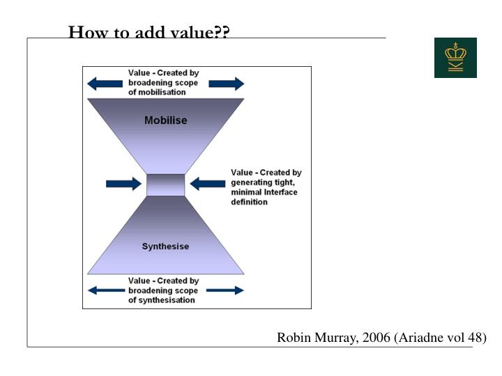 How to add value??