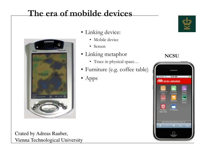 The era of mobilde devices