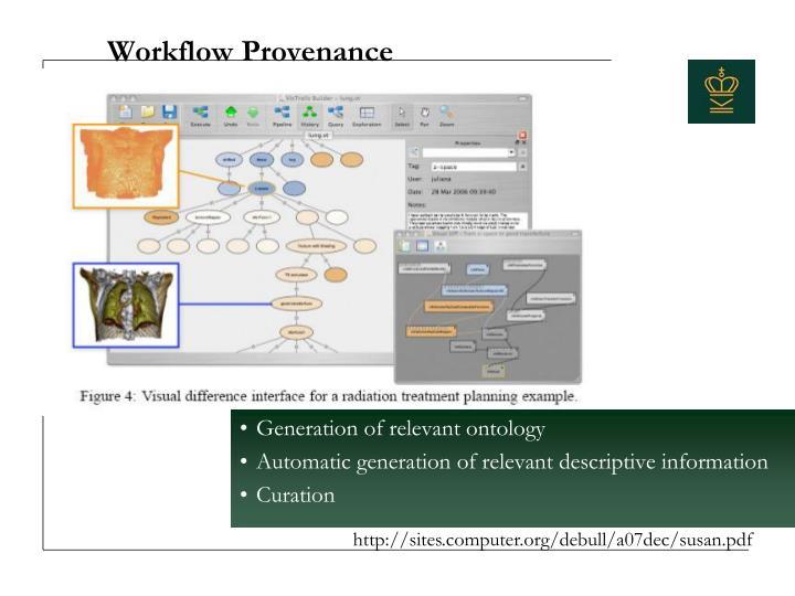 Workflow Provenance