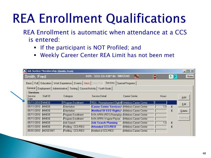 REA Enrollment Qualifications