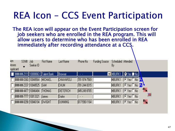 REA Icon – CCS Event Participation