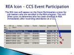 rea icon ccs event participation