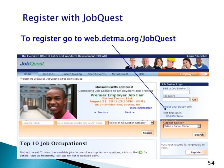Register with JobQuest