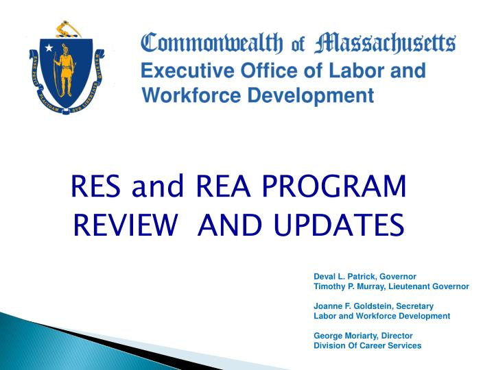 RES and REA PROGRAM