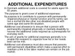 additional expenditures