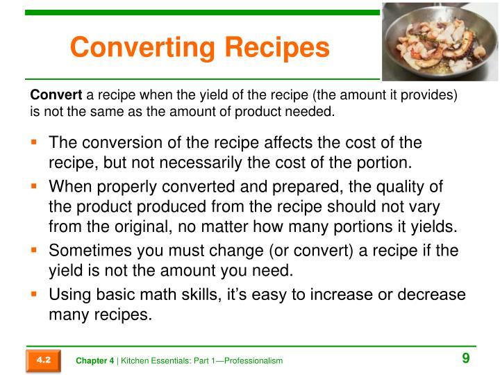 Converting Recipes