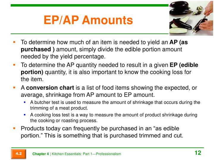 EP/AP Amounts