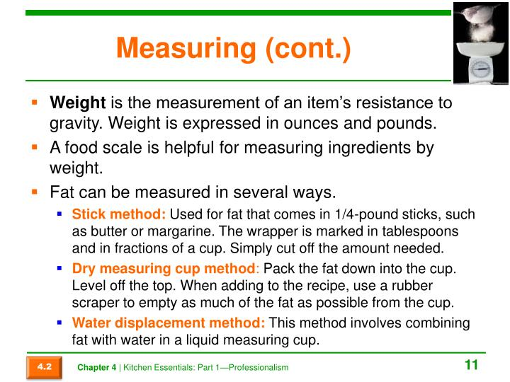 Measuring (cont.)
