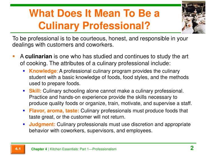 What Does It Mean To Be a Culinary Professional?