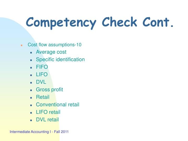 Competency Check Cont.