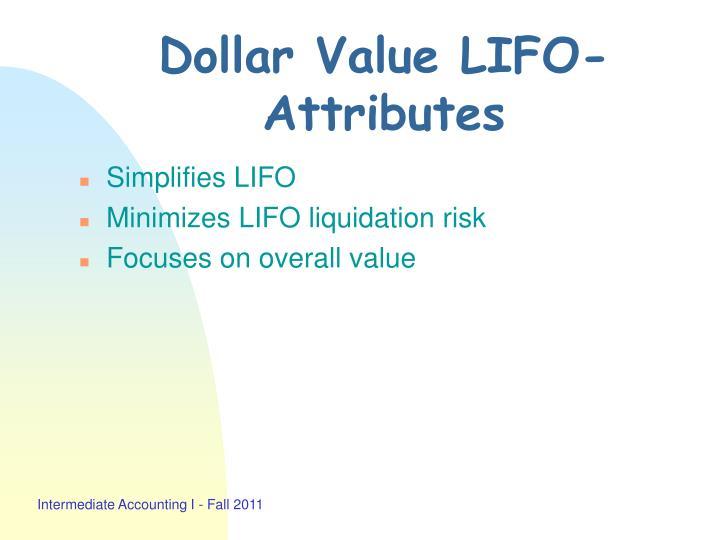 Dollar Value LIFO-Attributes