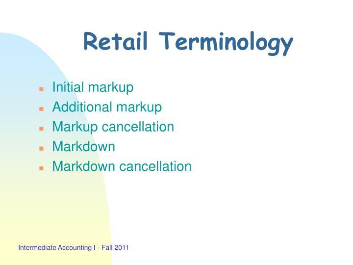 Retail Terminology