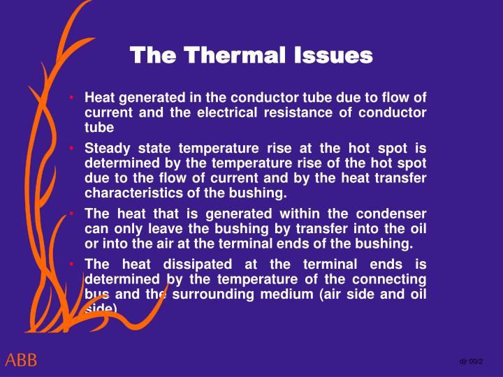 The Thermal Issues