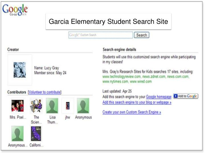 Garcia Elementary Student Search Site