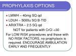 prophylaxis options