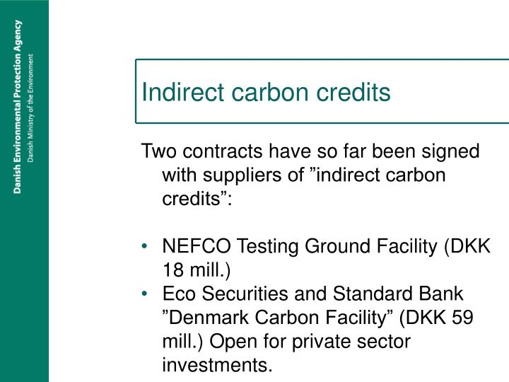 Indirect carbon credits