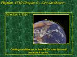 physics 1710 chapter 6 circular motion10