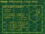 physics 1710 chapter 6 circular motion2