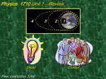 physics 1710 unit 1 review