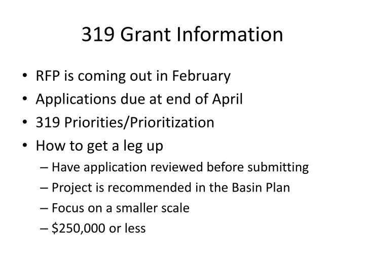 319 Grant Information