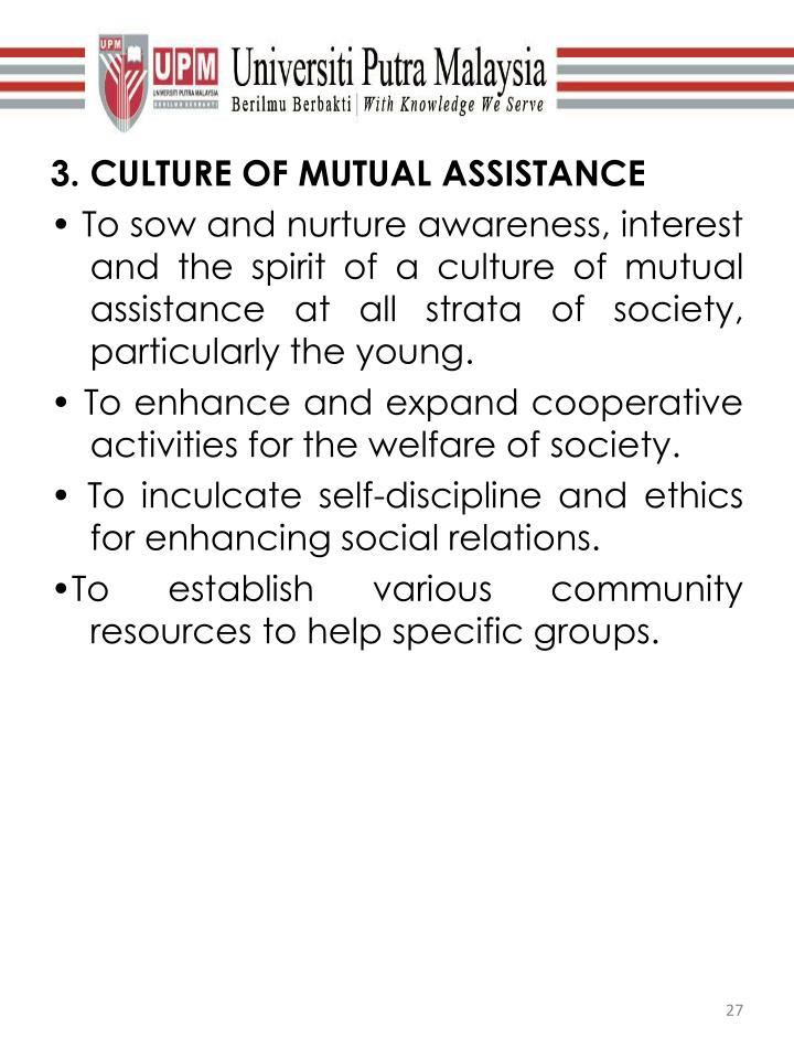3. CULTURE OF MUTUAL ASSISTANCE