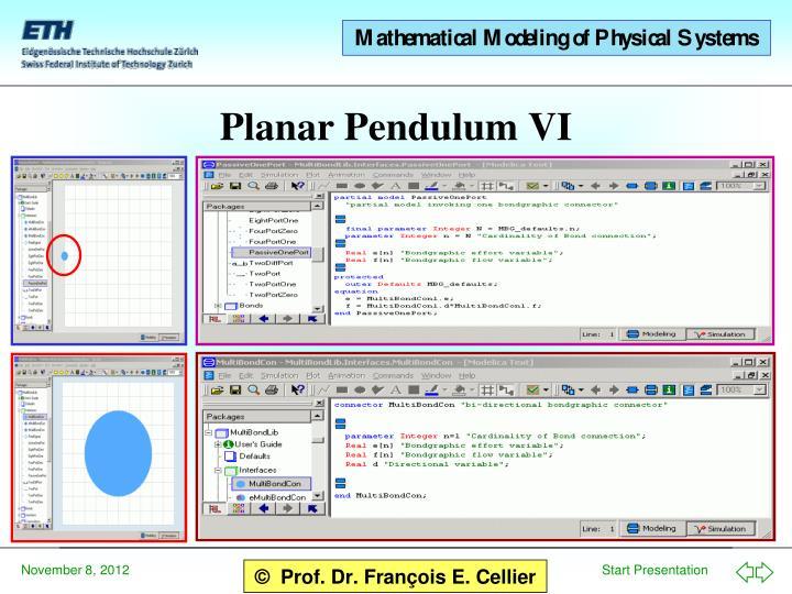 Planar Pendulum VI