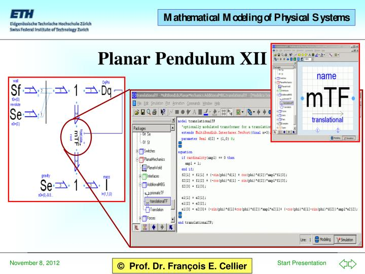 Planar Pendulum XII